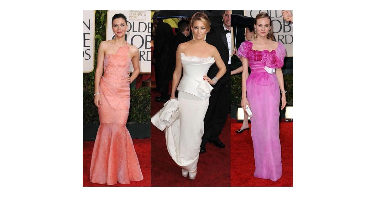 2010 Golden Globes Trend Artsy Dresses POPSUGAR Fashion