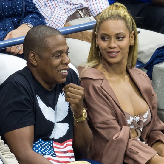 Beyonce and Jay Z Watching Serena Williams at the US Open
