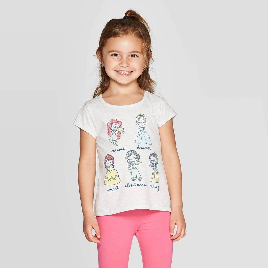 Toddler Girls' Disney Princess Group Traits T-Shirt