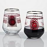 World Market Game of Thrones Targaryen Stemless Wine Glass Set