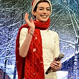 Anne Hathaway visited Late Night With Jimmy Fallon.