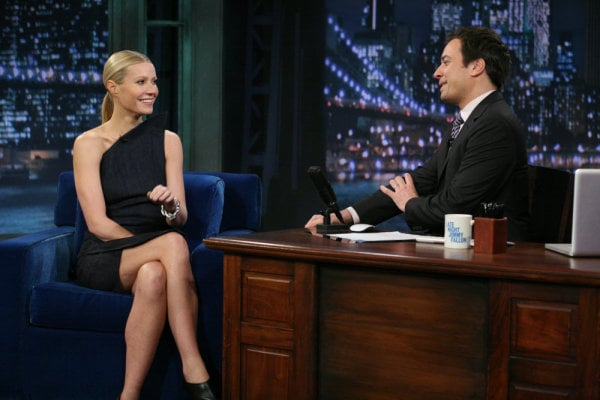 "Gwyneth Shows Her '90s Hip-Hop Side on Fallon and Tells Good Housekeeping Chris Makes Her Feel ""Special"""