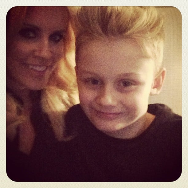 "Jenny McCarthy shared a sweet picture with her son Evan, saying, ""Being a mother . . . Is everything I wanted it to be. He is my teacher, my love, my inspiration, my life. I'm so grateful to have this little man as my wingman in my life."" Source: Instagram user jennyannmccarthy"