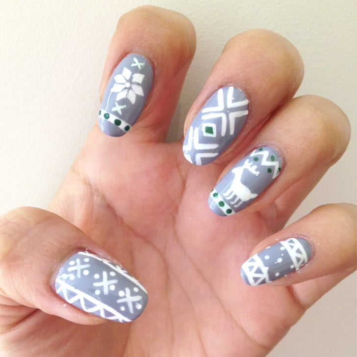 Ugly Sweater Nail Art Popsugar Beauty