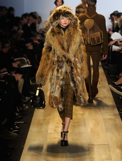 Michael Kors went ultra luxe.