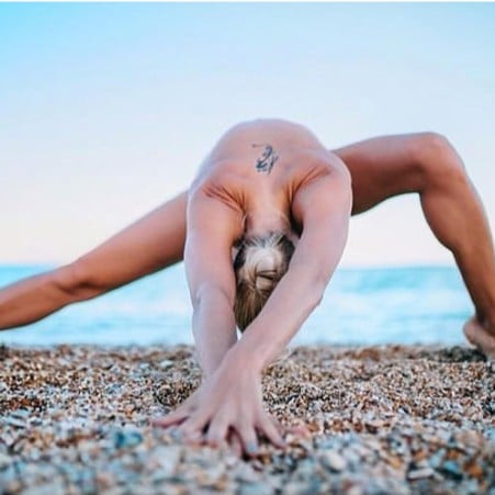 Naked Yoga by the Water