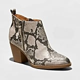 Universal Thread Jameson Faux Leather Snake Double Zip Booties