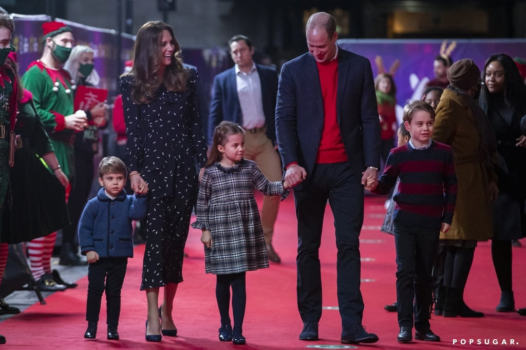 The Cambridge Family Attends Pantomime Performance in London