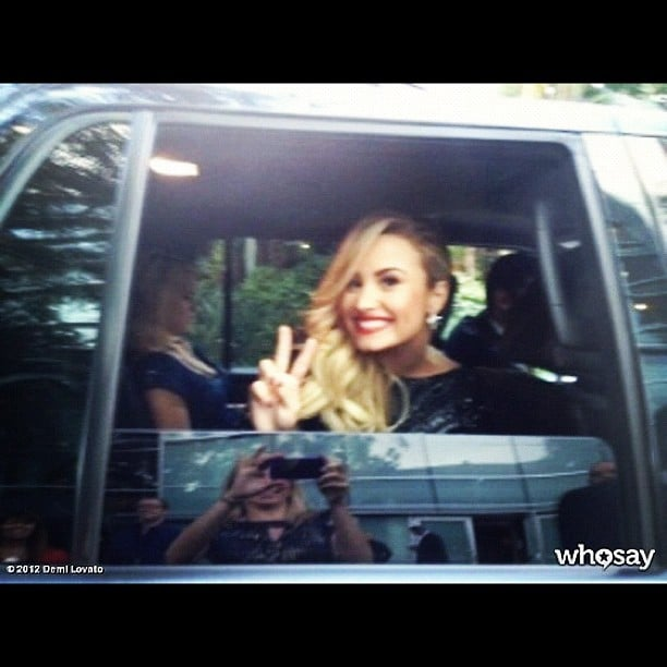 Demi Lovato was all smiles leaving the show. Source: Demi Lovato on Who Say