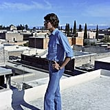 Even Yves rocked the denim-on-denim look, as seen here on a trip to Morocco in 1972.