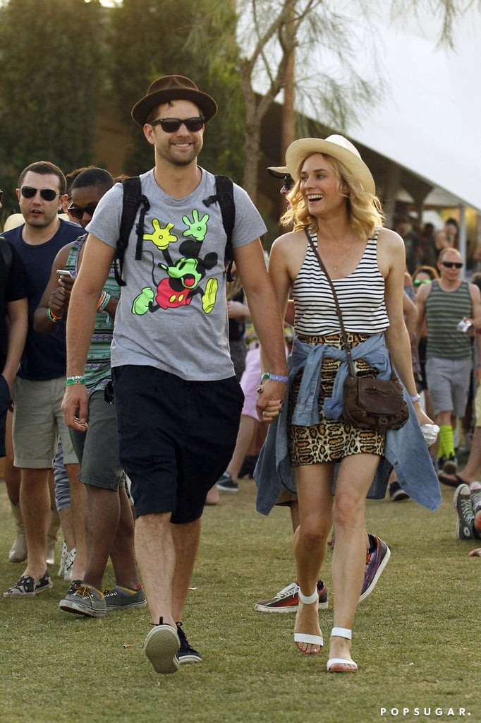 Joshua Jackson and Diane Kruger made one of several happy pairs at Coachella last weekend.