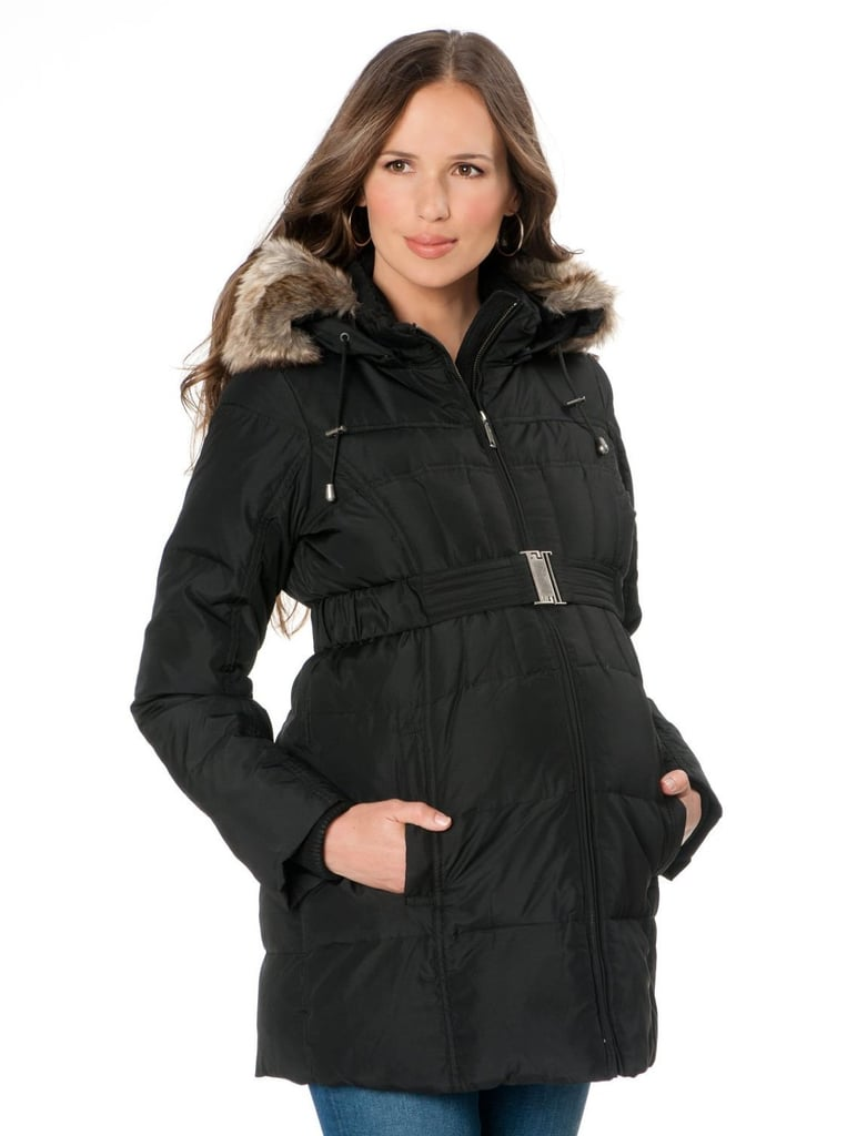 A Pea in the Pod Quilted Puffer Maternity Coat