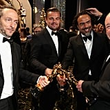The Revenant's Big Winners Showed Off Their Oscars