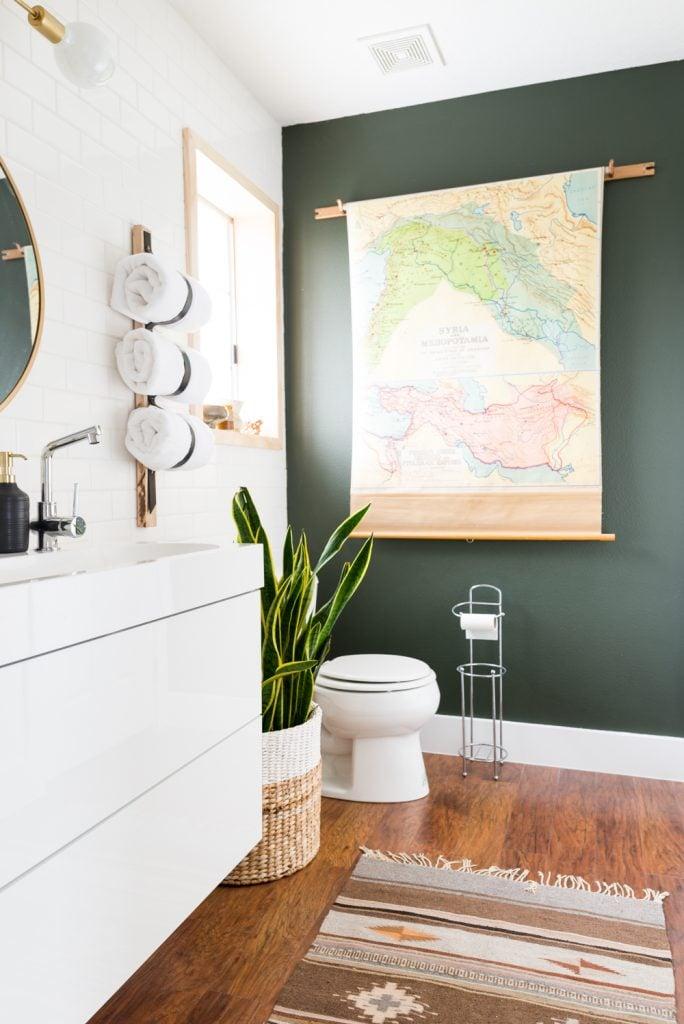 Add A Bold Accent Wall Diy Bathroom Updates Popsugar