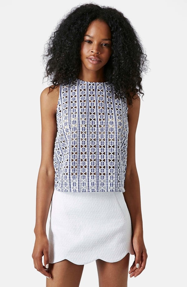 Topshop Gingham Shell