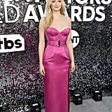 Sophie Turner Hot Pink Louis Vuitton Gown at SAG Awards 2020