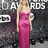 Sophie Turner Hot Pink Louis Vuitton Gown at SAG Awards 2020