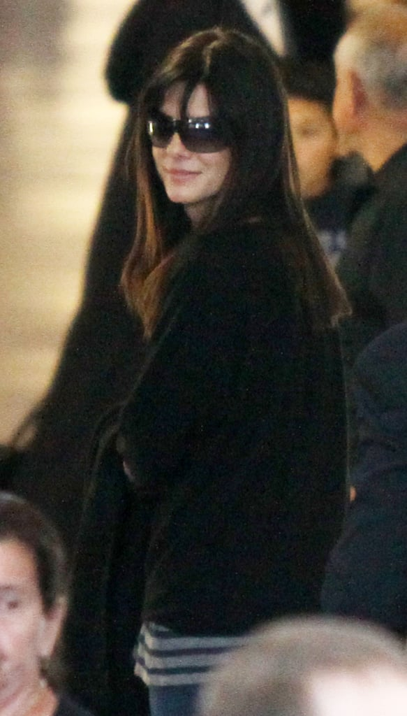 PIctures of Sandra Bullock at LAX Airport After Golden Globes