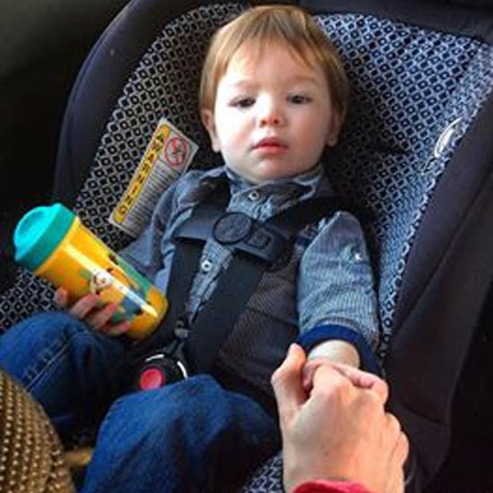 Little Boy Hold's Working Mom's Hand During Drive Home