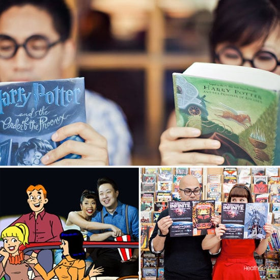Geek's showing you how to embrace the quirky side of your personalities when planning your engagement photo session.