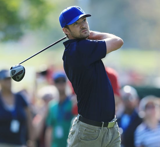 Justin Timberlake and Jessica Biel at the Ryder Cup