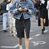 Styled With a Denim Skirt