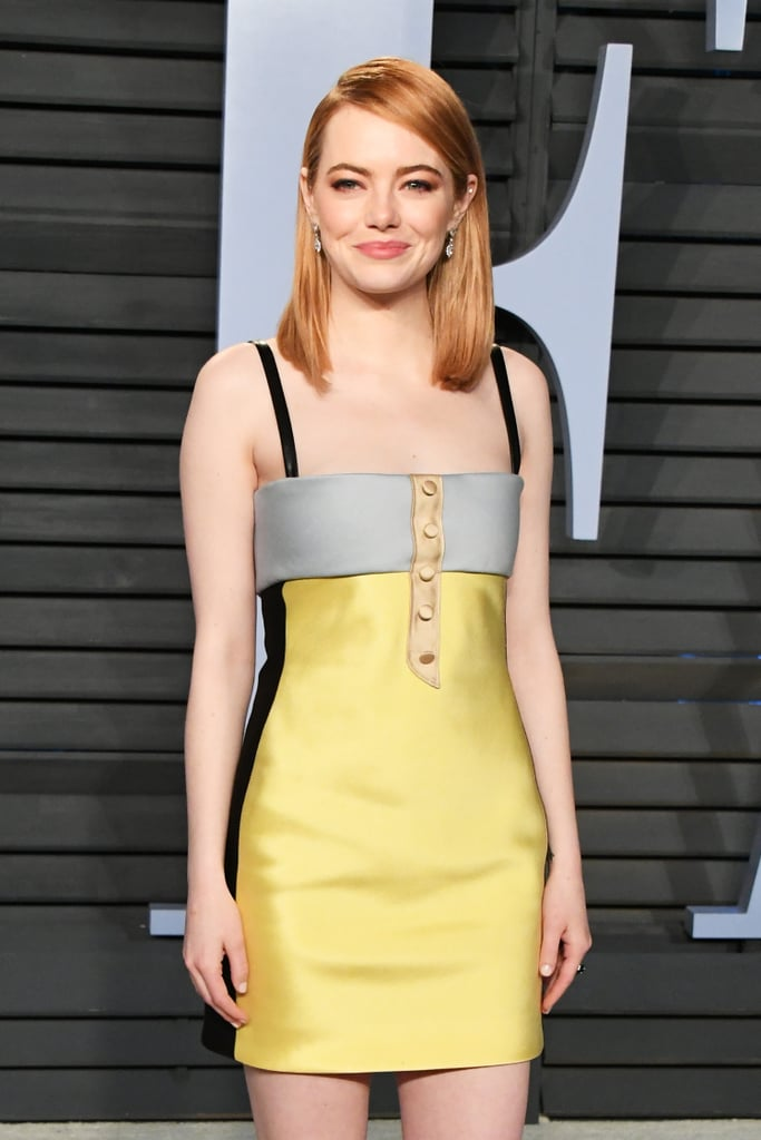 Emma Stone Louis Vuitton Oscars Afterparty Dress 2018