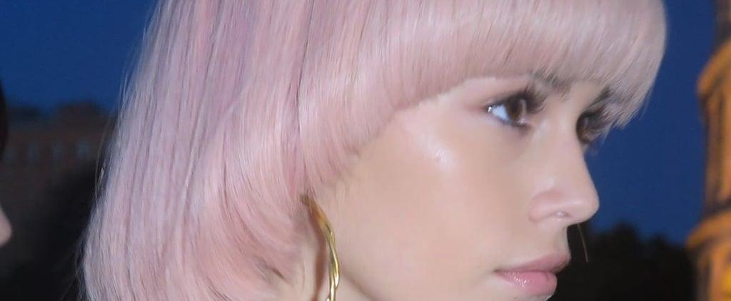 Fendi Couture Fall 2019 Colourful Marbled Bob Wig