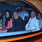 George Clooney and Amal Alamuddin at Tomorrowland Premiere