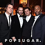 Pictured: Justin Theroux, Tom Ford, Orlando Bloom, and Lee Daniels
