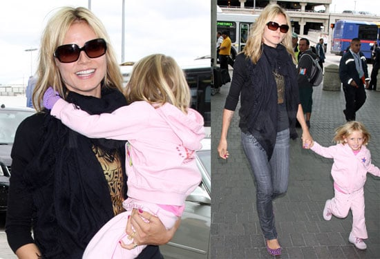 Heidi Klum Heads Out of Town as a Single Mom