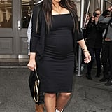 Kim Kardashian left the Isabel Marant store in NYC.