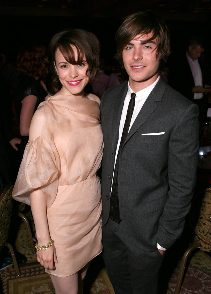 Rachel smiled next to Zac Efron at a party in April 2009.