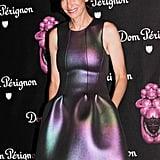 Cynthia Rowley was iridescent at the Jeff Koons Dom Pérignon soirée.