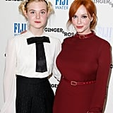 Christina Hendricks and Elle Fanning arrived at the screening in Beverly Hills.