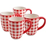 The Pioneer Woman Charming Check 26 oz Jumbo Mug, Set of 4 ($20)