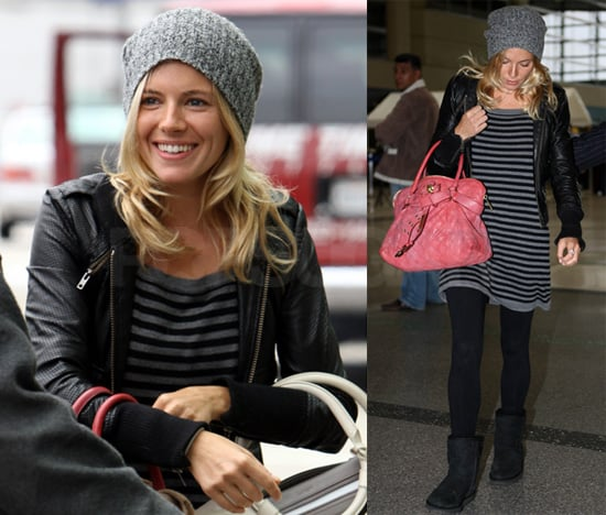 Sienna Miller Flies Home