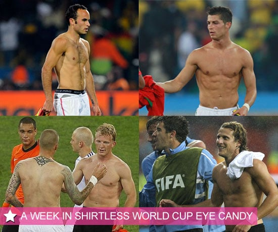 Shirtless Football Players From Week Three of the World Cup