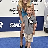 Britney Spears posed with her son Sean Federline.