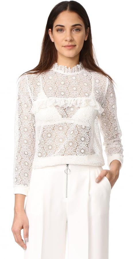 Anine Bing Crochet Sweatshirt  7d81f4ab4