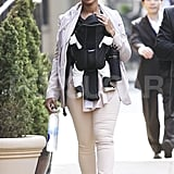 Beyonce Knowles and Blue Carter explored in NYC.