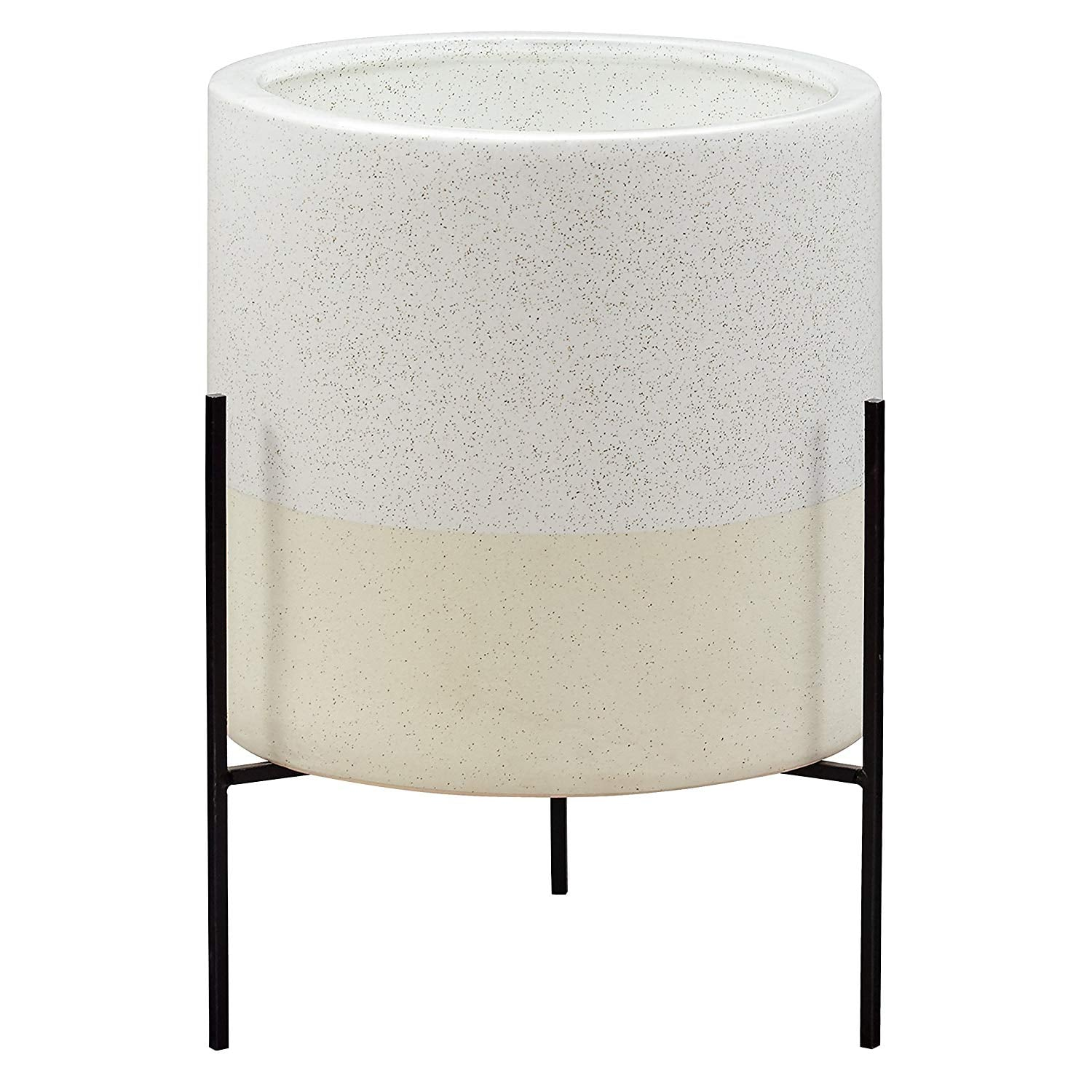 Rivet Mid Century Ceramic Planter With Stand Unwrap Our