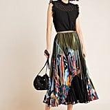 Lisabetta Pleated Maxi Skirt