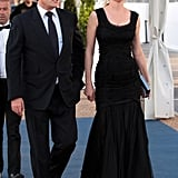 It was a Dolce & Gabbana kind of night for Uma Thurman, who dressed in a gown and shoes from the house to the screening of The Immigrant.