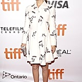 Natalie was all covered up in a collared dress at the Toronto International Film Festival.