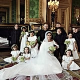 The kids were front and center in Meghan and Harry's official wedding portraits.