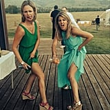 "Candace: ""Happy Birthday to my partner in crime for 28 years! Love you! @andreabarber"""