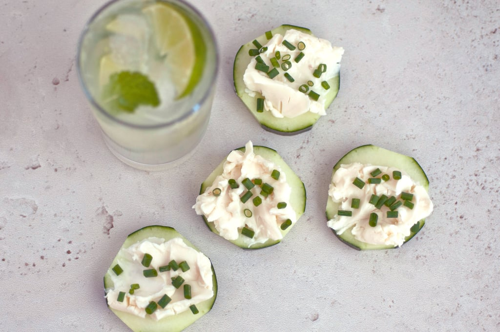 Mint Limeade + Cucumber French Onion Rounds