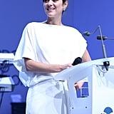 Marion Cotillard spoke on stage.