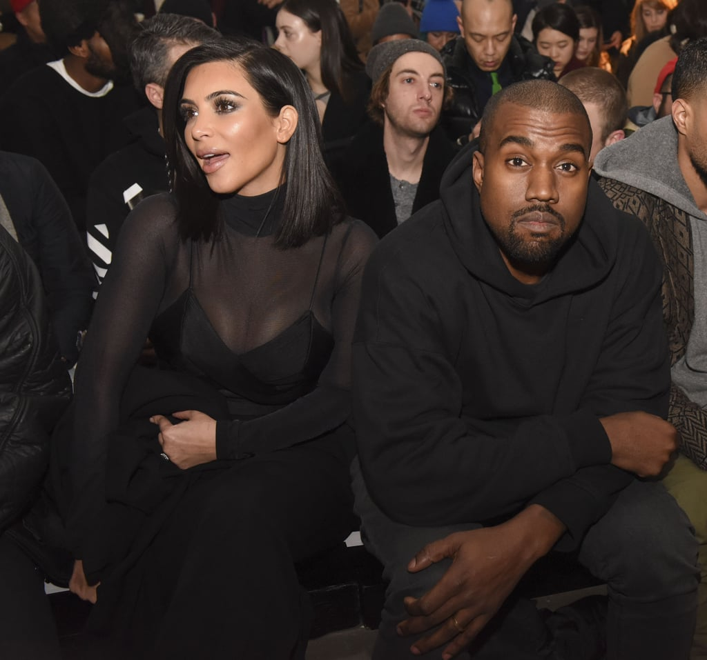 Kim Kardashian and Kanye West at NYFW